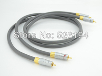Free shipping pair Moonsaudio audio cable interconnect cable with Nakamichi gold plated RCA plug
