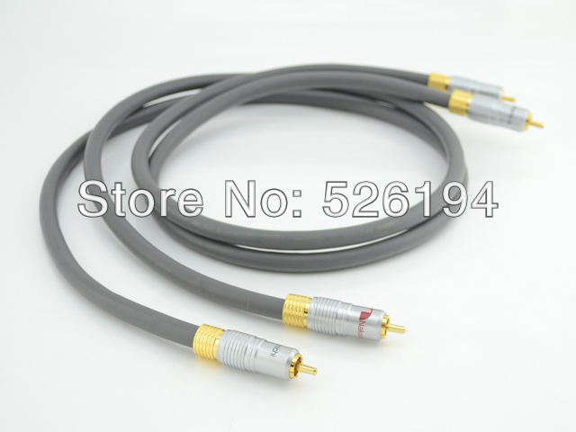 Free shipping  pair cardas audio cable interconnect  cable with Nakamichi gold plated RCA plug free shipping pair taralabs rsc vector 2 rca interconnect cable with gold plated rca plug