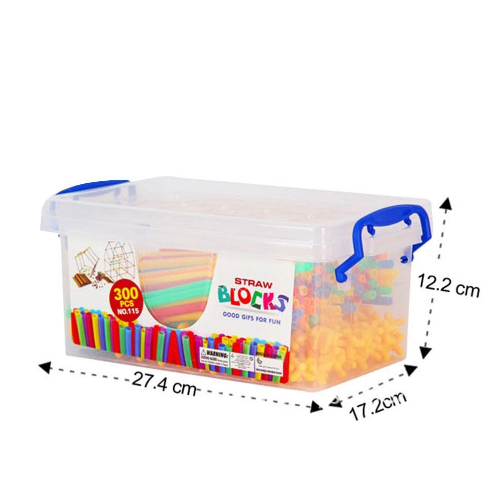 """Пластиковые красочные соломенные строительные блоки с соломенной вставкой, развивающая креативная игра """"сделай сам"""" ручной работы"""