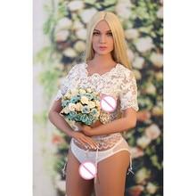 New 159cm  American European  beautiful  realistic sex dolls with   big ass real silicone metal skeleton tan skin