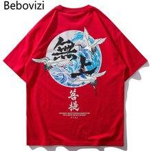 Bebovizi Brand 2019 Japanese Streetwear Ukiyo E Printed T Shirts Harajuku Hip Hop Style Men Top Tees Casual Oversize Tshirt