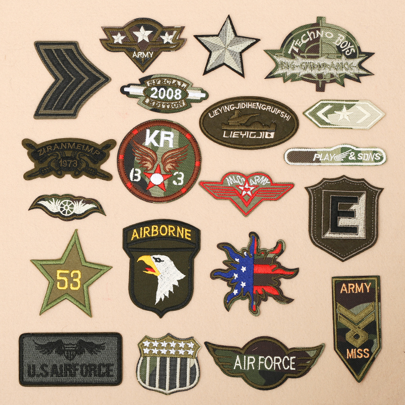 5pcs/lot Army Uniforms Badge Patches Iron on Clothes ...