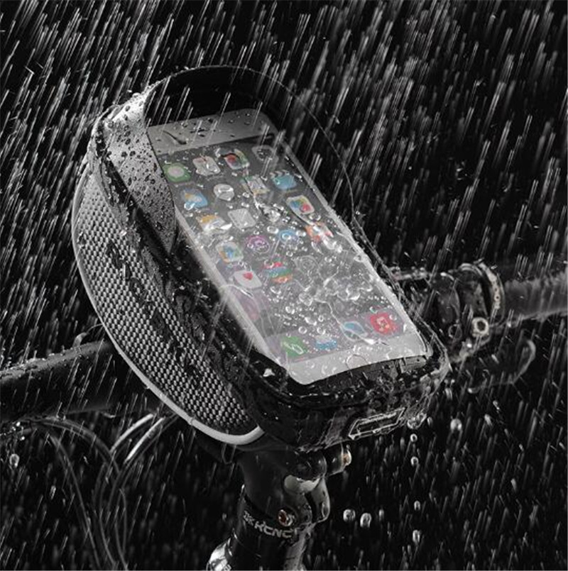 ROCKBROS Bicycle Frame Screen Pannier Rainproof Touch Reflective Bag 6.0 inch Cellphone Cycling