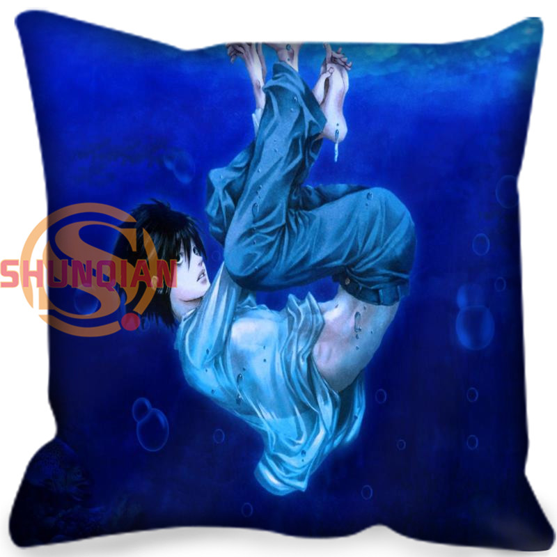 Death note Pillow Cover Home Living Decorative Pillowcase Custom Square Pillow Cover 20X20cm,35X35cm(one side)