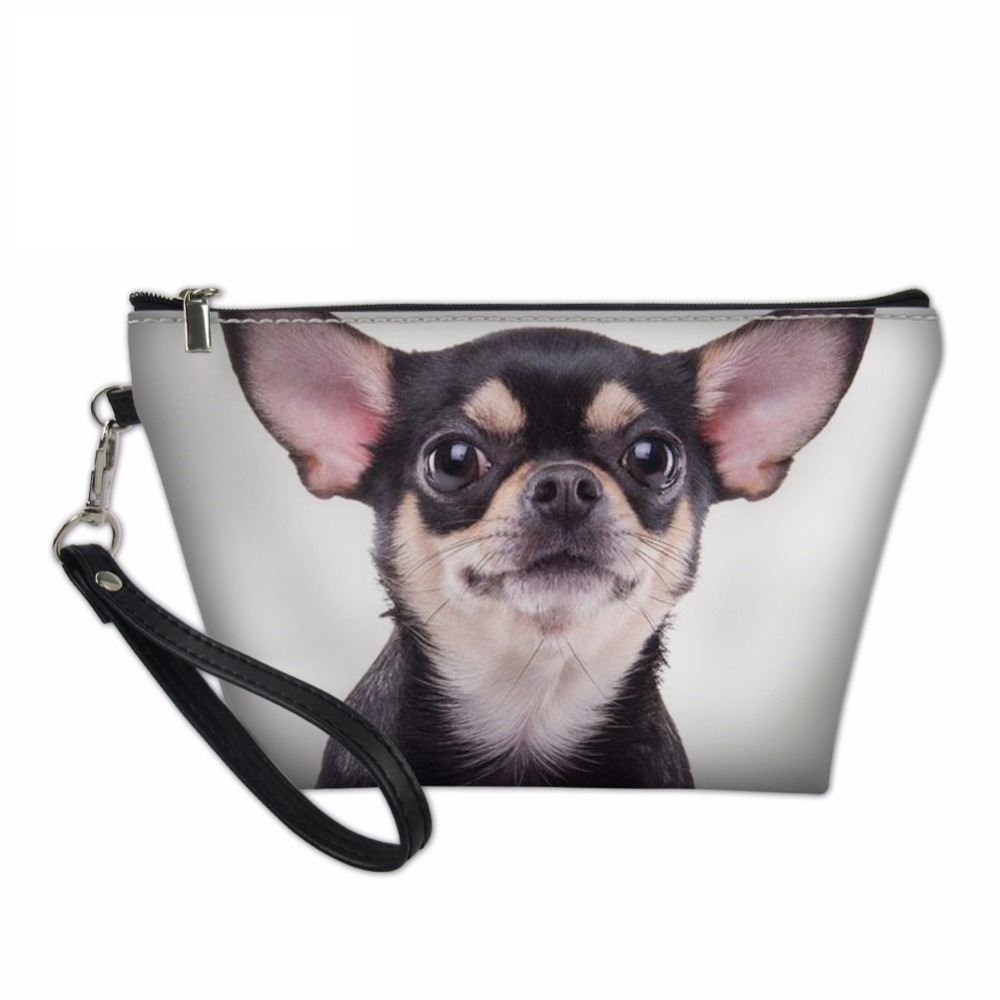 Noisydesigns Organizer Make Up Women Chihuahua Prints Cosmetic Bag Makeup Box Pouch Trav ...