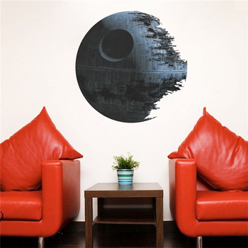 Death Star Wars Poster Wall Stickers Movie Wall Decals Art for Boys Nursery Kids Room Home Decoration WallPaper Kids Wall Paper