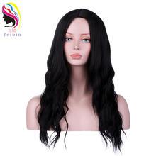 Feibin синтетические парики для чернокожих женщин вьющиеся блонд
