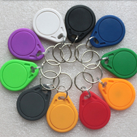 100pcs RFID key fobs 13.56MHz proximity NFC tags 215 keyfob tag for all nfc products