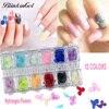 BlinkinGel 36pcs Dry Flower For 3D Nail Art Decorations Japan Nailart Real Immortal Flower Nails In