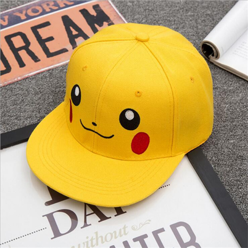 New Baseball Cap Adjustable nime Pokemon Pikachu Cosplay Flat Cap Hip Hop Adult Snapback Ash Ketchum Caps For Men Women brand new blvd supply snapback baseball cap red basic adjustable original cap hip hop cap