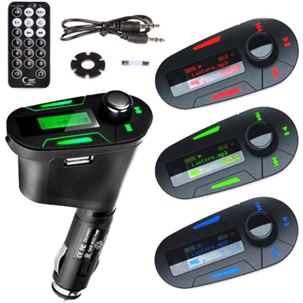 Car Kit MP3 Player Wireless FM Transmitter Modulator with USB/SD/Card You can use this USB/SD/MMC slot player with any of your