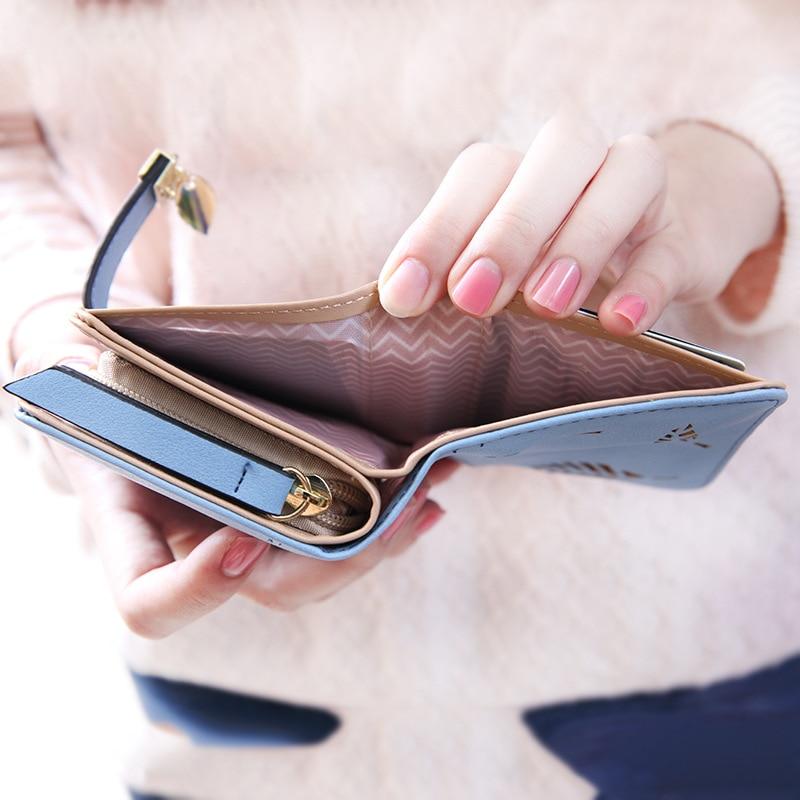 carteira pequena cuzdan portomonee carteira Interior : Bolso Interior do Entalhe