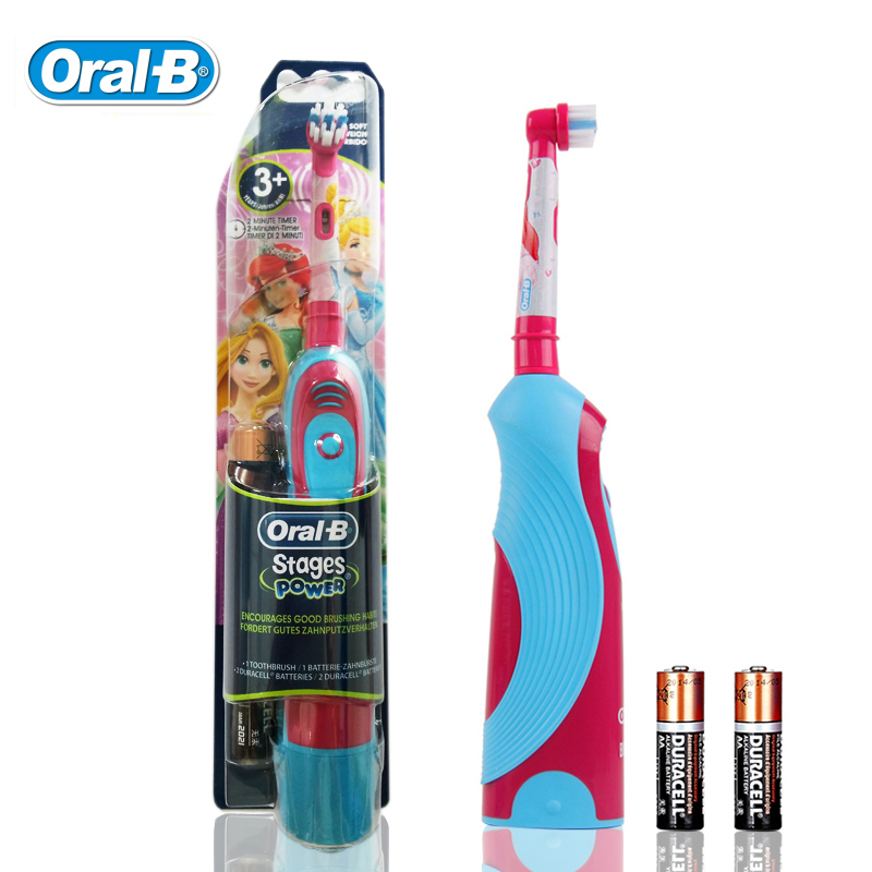 Oral B DB4510K Kids Electric Toothbrushes Waterproof Oral Hygiene Dental Care Princess Girls Battery Tooth brush image