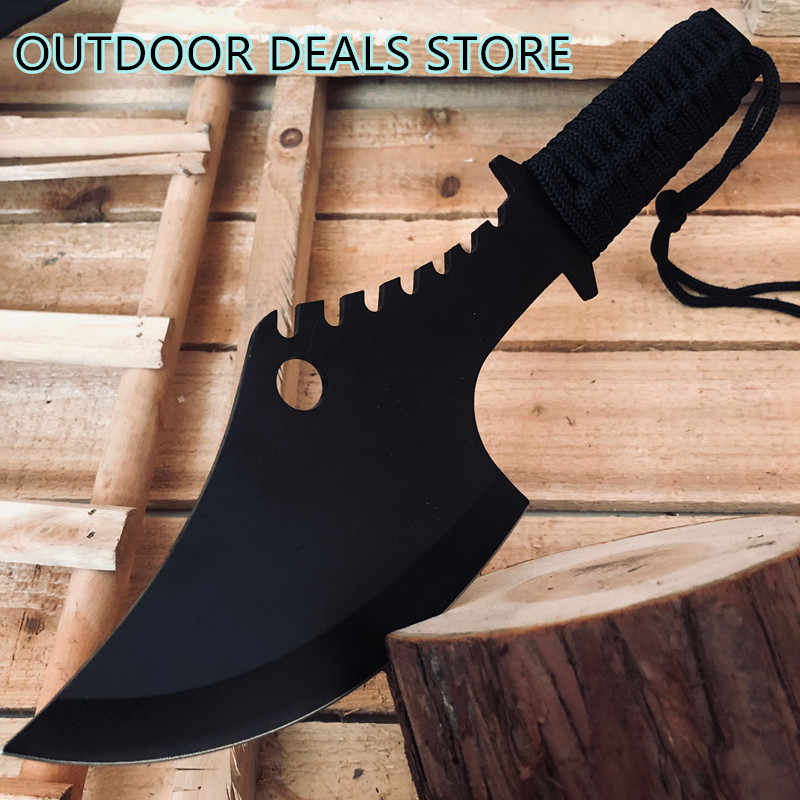 Military Sharp Axe Tactical Tomahawk Outdoor Practical Survival Machete Hand Tool Hatchet Camp Axe Hunting Knife Cut Bone Knives