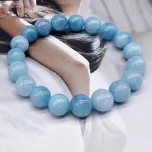REGELIN 4/6/8/10/12mm Natural Stone Angelite Round Loose Beads Bracelets jewelry
