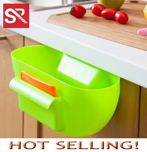 Plastic Storage Box Desktop Garbage Storage Bin Kitchen Plastic Container  Storage Drawers 4 Color Creative Kitchen