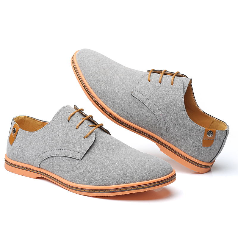 HTB1tvAFX3aH3KVjSZFpq6zhKpXal VESONAL Brand 2019 Spring Suede Leather Men Shoes Oxford Casual Classic Sneakers For Male Comfortable Footwear Big Size 38-46