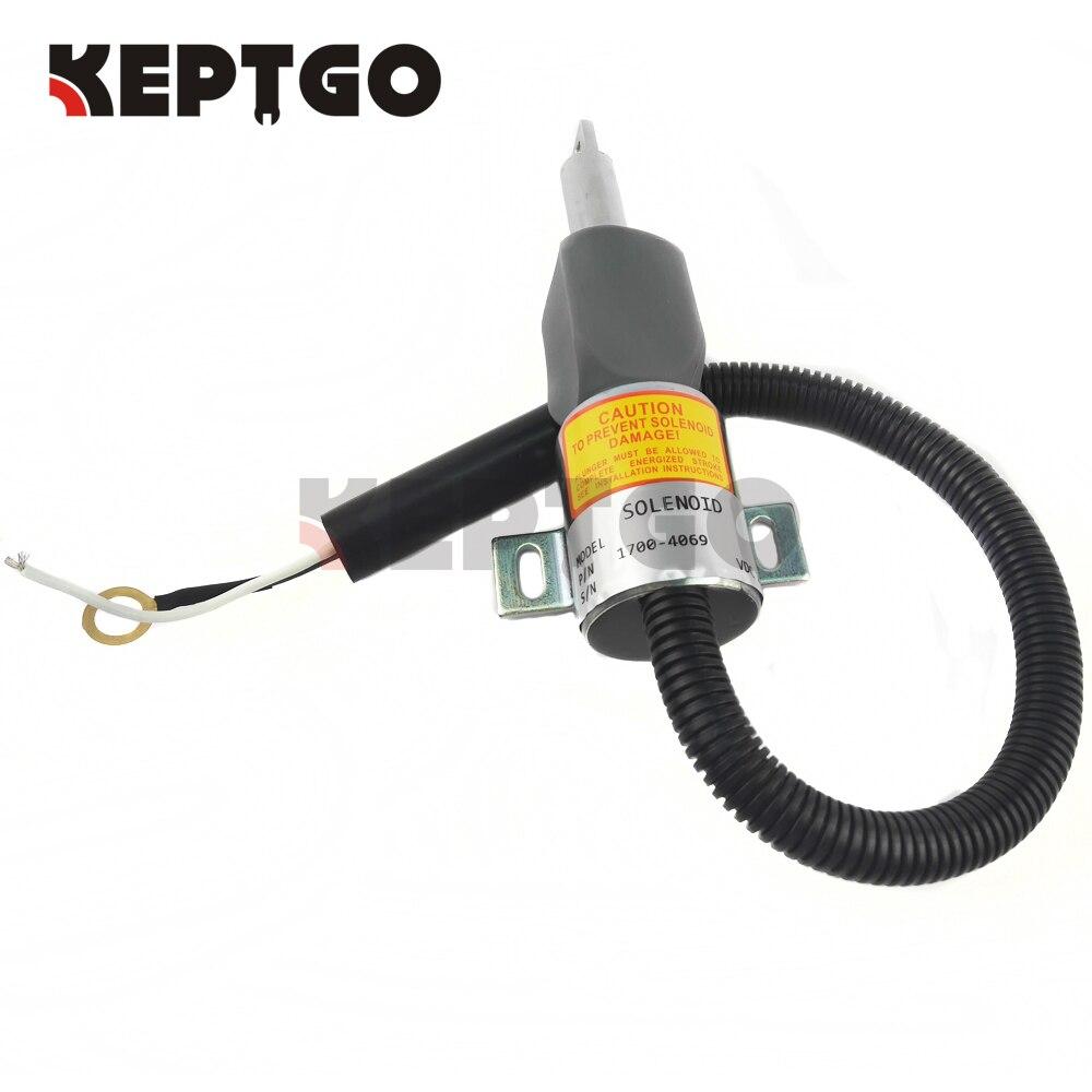 Fuel Shut Off Solenoid 12V for Hitachi MV1-40 8944507231 894450-7231