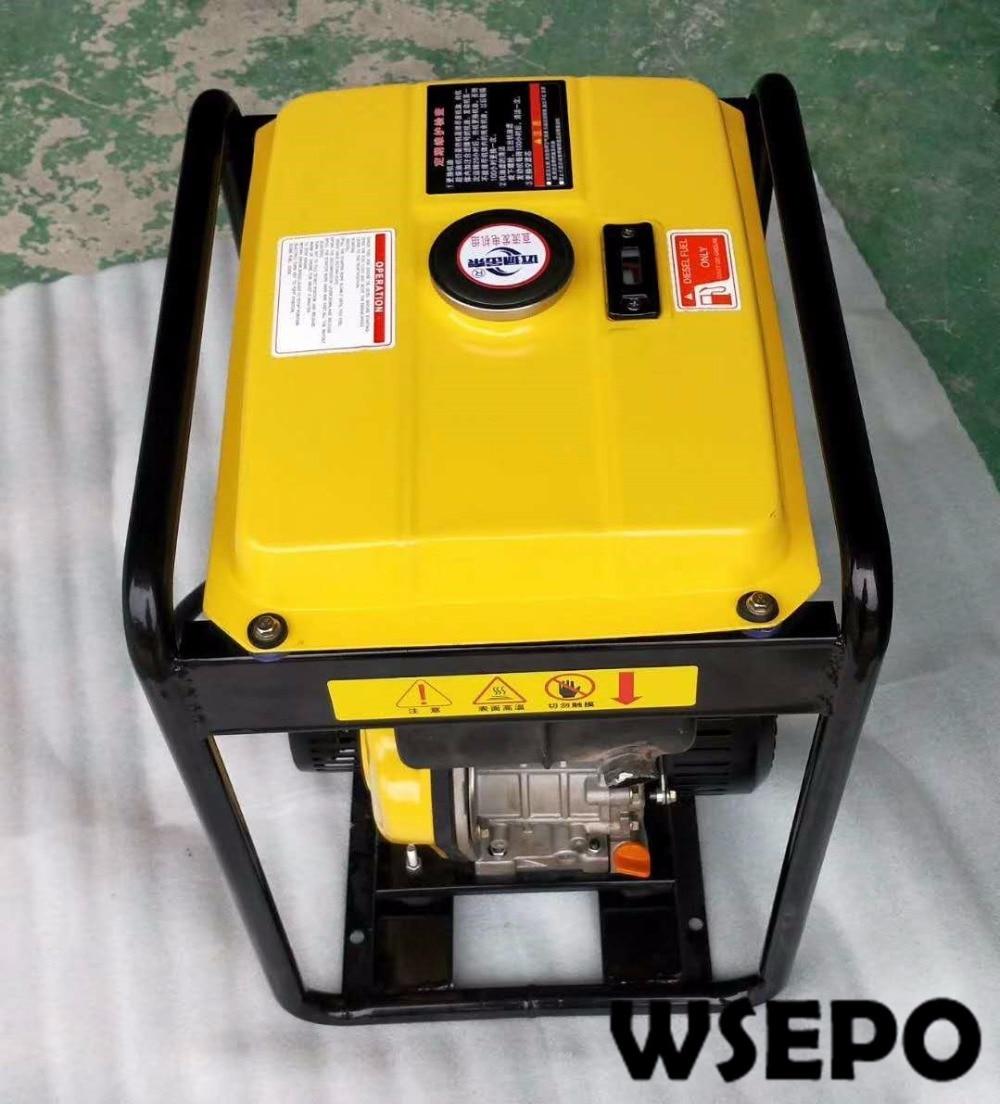 WSE-4KW Diesel DC Battery Charging Generator Applied for Car/Truck Air Conditioner, 24V AC Generator Set with Manual/Estart zhejiang boyard r134a 24v 12v dc air conditioner compressor kfb135z24 for truck sleeper air conditioner