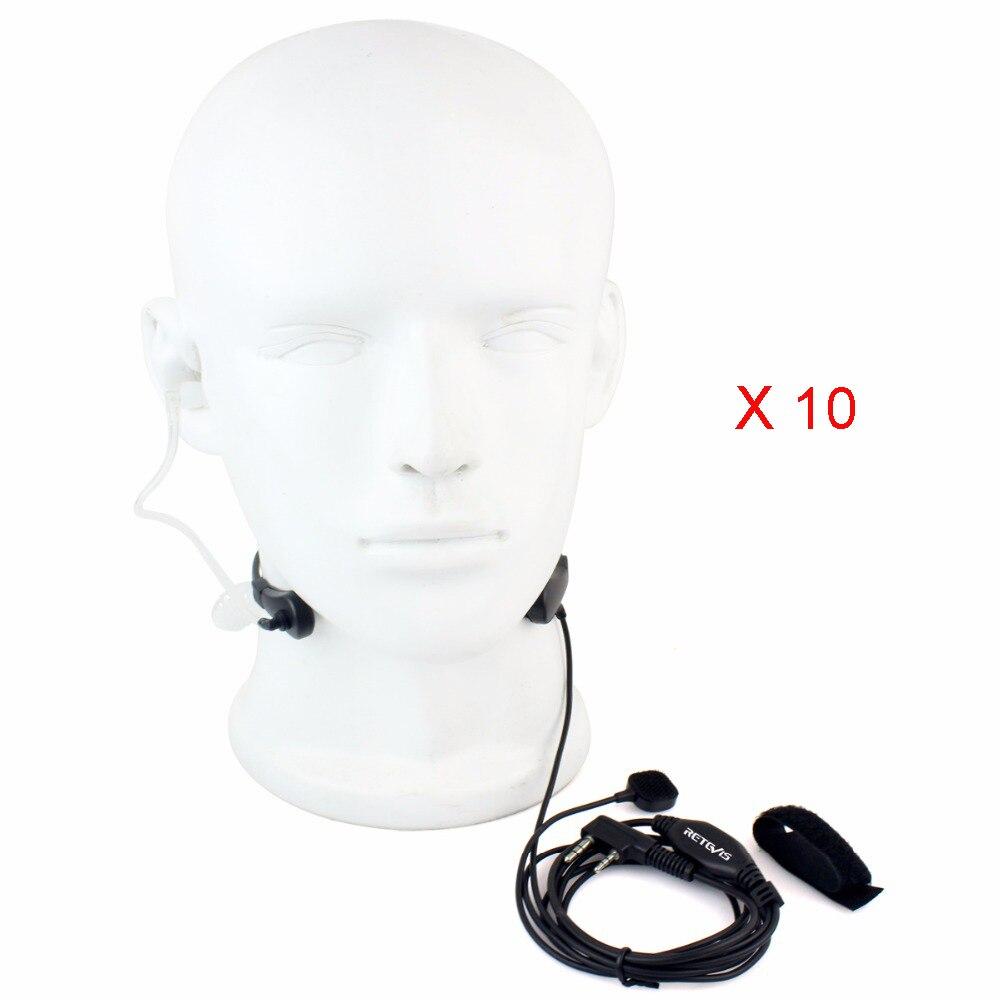 bilder für 10 stücke Throat Mic Headset Walkie Talkie für Kenwood für Baofeng KPG27D THD7 TK-208 forHYT Tragbare Ham Handy-funkgeräte Radio C9007A