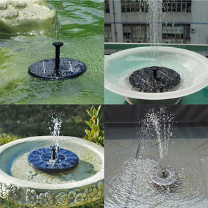 Image 2 - Teich Pumpe Solar Powered Brunnen Garten Dekoration Wasser Schwimm Brunnen Bürstenlosen Wasserpumpe Kit für Vogel Bad Brunnen 2019