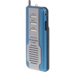 Image 4 - Mini Portable Auto Scan FM Radio Receiver Clip With Flashlight Earphone DK 8808