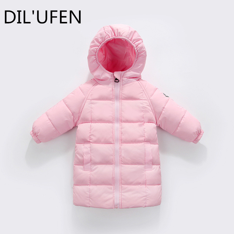 eb20775c9 US $18.6 |DIL'UFEN 2017 New Baby Girls Boys Winter Long Down Jackets  Outerwear Coats Fashion children Thick Warm jacket-in Down & Parkas from  Mother & ...