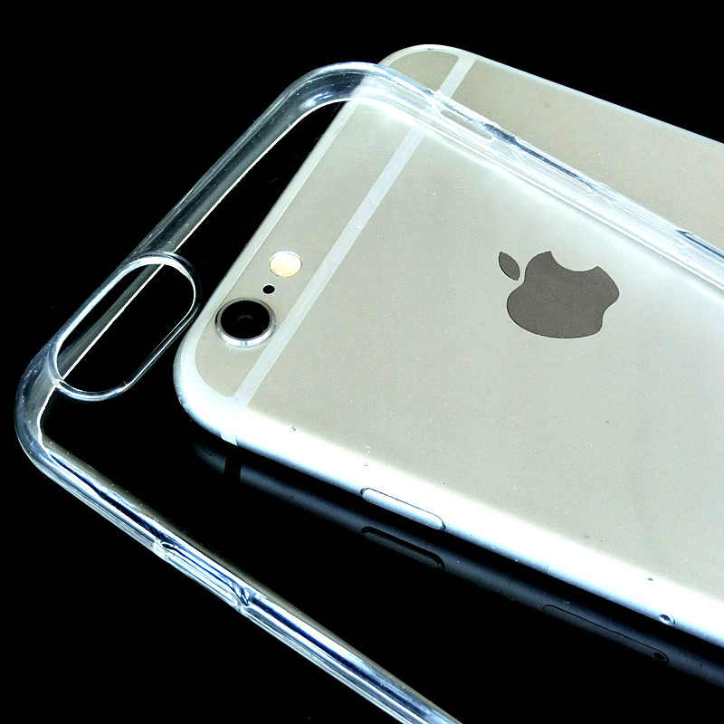 Capa de silicone tpu transparente para iphone, capa de iphone 5S se para iphone x xr xs max 7 8 6s 6 mais fino cristal de borracha proteção telefone