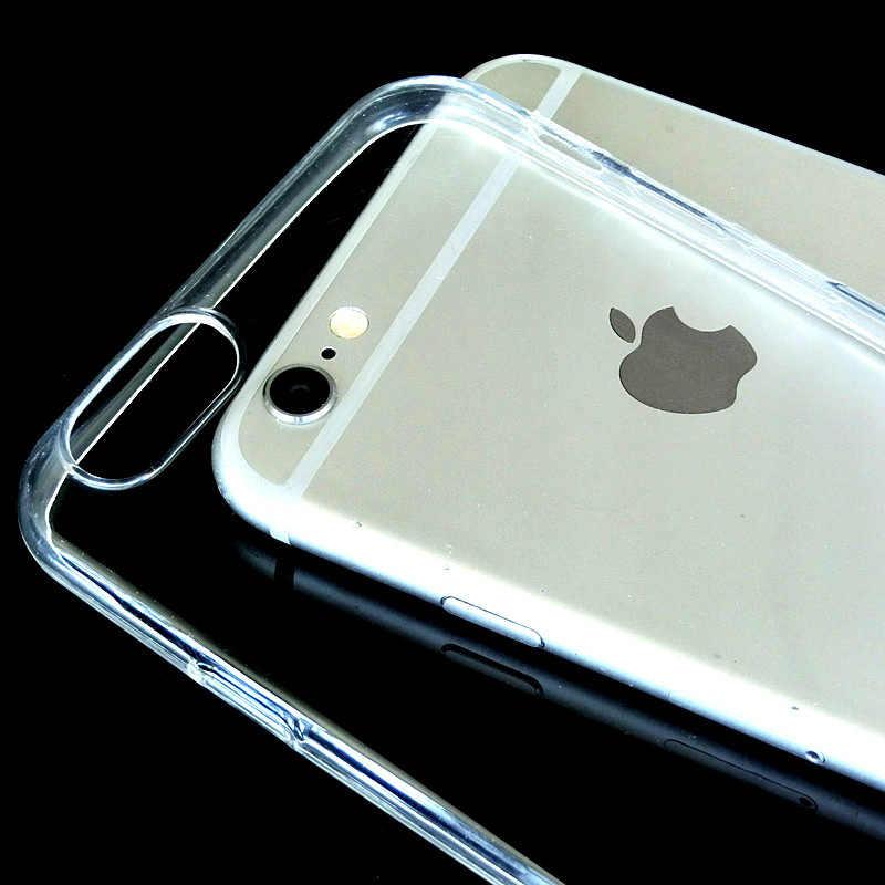 Silicone Trasparente di Caso di TPU Per il iPhone 5s SE Cover Per iPhone X XR XS MAX 7 8 6s 6 Plus Ultra Sottile Cristallo Posteriore Proteggere Il Telefono In Gomma