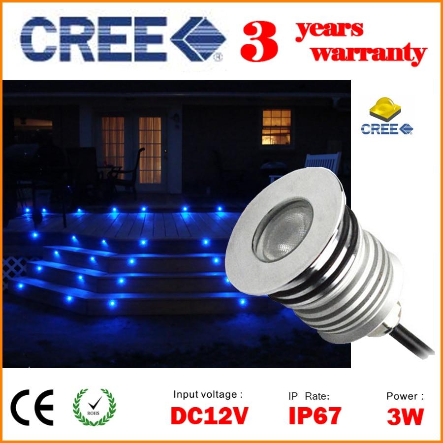 buy dhl free cree outdoor led deck lights recessed floor lighting fixture. Black Bedroom Furniture Sets. Home Design Ideas
