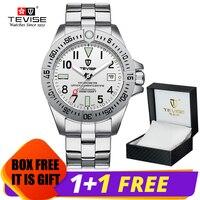 TEVISE T839A деловые мужские автоматические механические часы с календарем Отображение времени модные часы с 3ATM водонепроницаемые мужские нару...