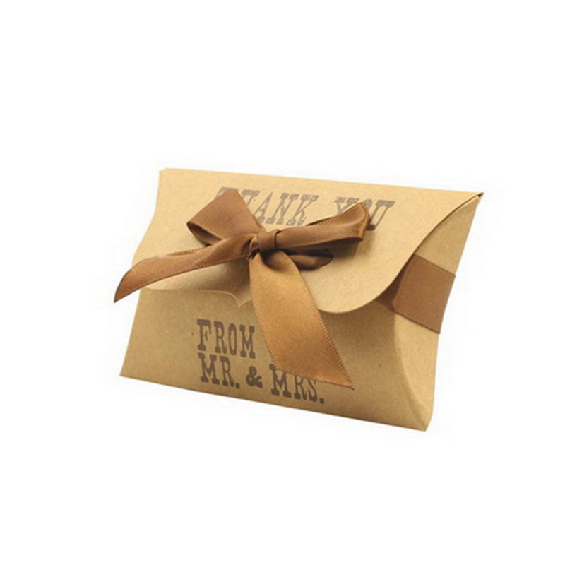 Wedding Return Gifts For Friends: 50pcs/lot Classic Paperboard Small Gifts Cookie Box