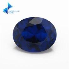 113 # синий камень овальной формы синтетический шпинель синего