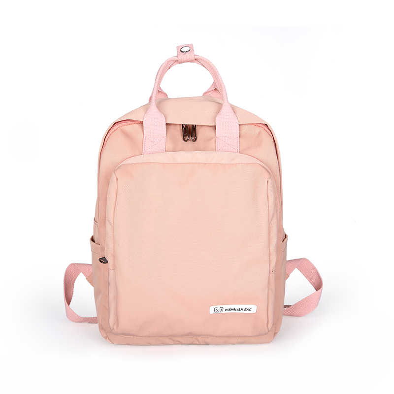 Women Backpack School Shoulder Bag for Teenagers Girls Oxford Female Travel Large Notebook Backpacks Student Pink Black Mochilas