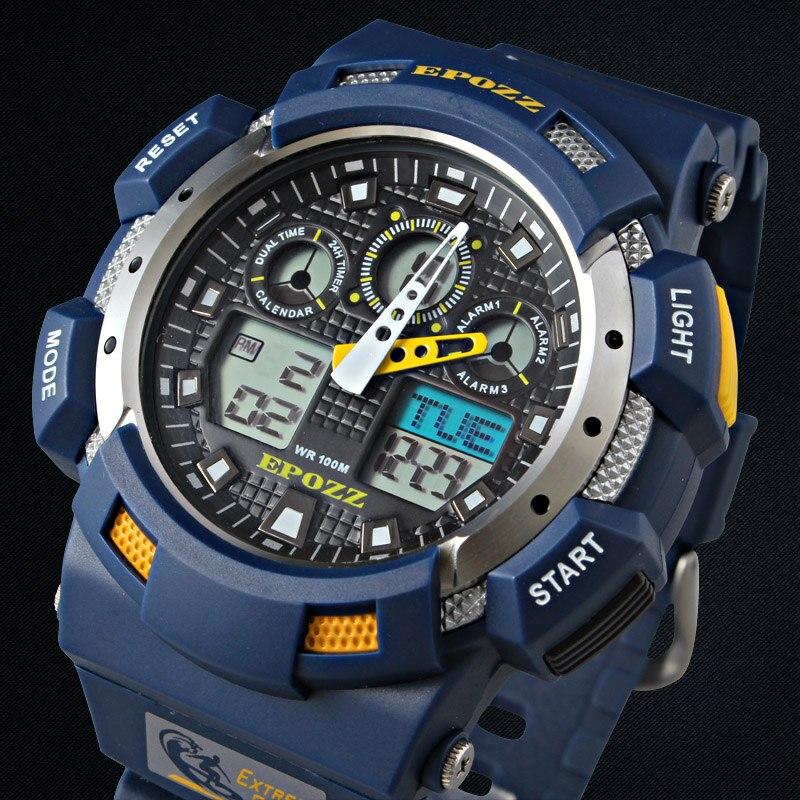 2017 Blaue Farbe Mode Digital Herrenuhr S Shock G Stil Analogen Männlichen Armbanduhr Epozz Wasserdicht Dive Relogio Masculino E3001 üBerlegene (In) QualitäT