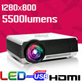 Best Home Theater HD 1280x800 5500Lumens lEd86 1080P HD Video HDMI USB LCD Rear LED Projector fulL hD Proyector Beamer