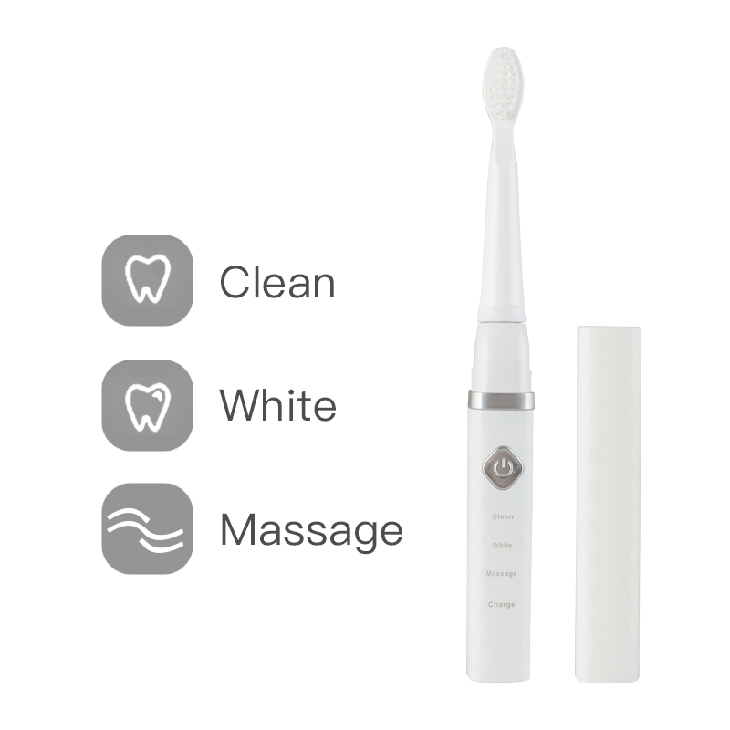 Sonic Ultrasound Electric Toothbrush Waterproof USB Charge Rechargeable Tooth Brush 1Pcs Replacement Head 3 Cleaning Modes Timer image