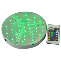 8inch round hookah shisha light table battery operated lights with remote control 16 colors water pipe accessories decoration|Shisha Pipes & Accessories|Home & Garden -