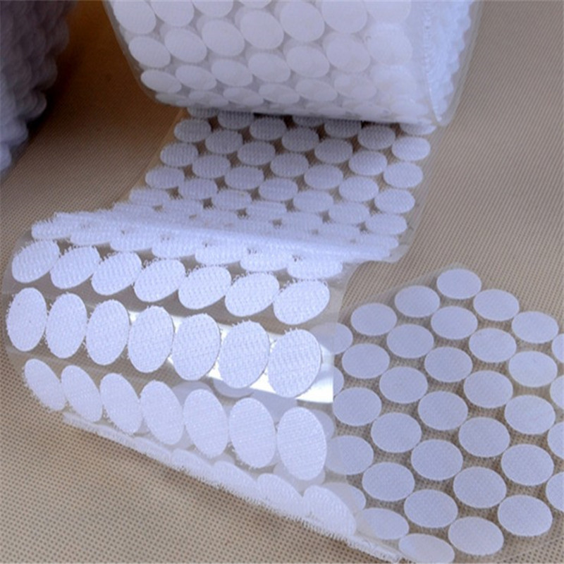200pair Dot magic self adhesive button Nylon elastic hook and loop fastener sheet holder DIY for bag shoes clothing decoration in Adhesive Fastener Tape from Home Garden