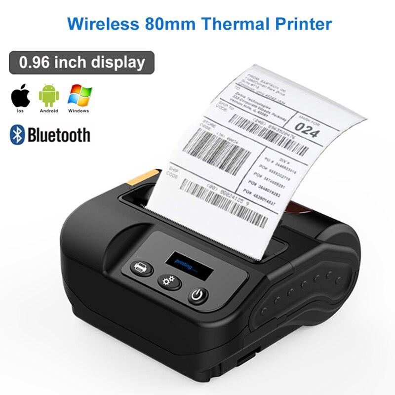 Kostenloser versand 80mm bluetooth drucker thermische drucker thermische empfang drucker bluetooth android mini 80mm thermische bluetooth