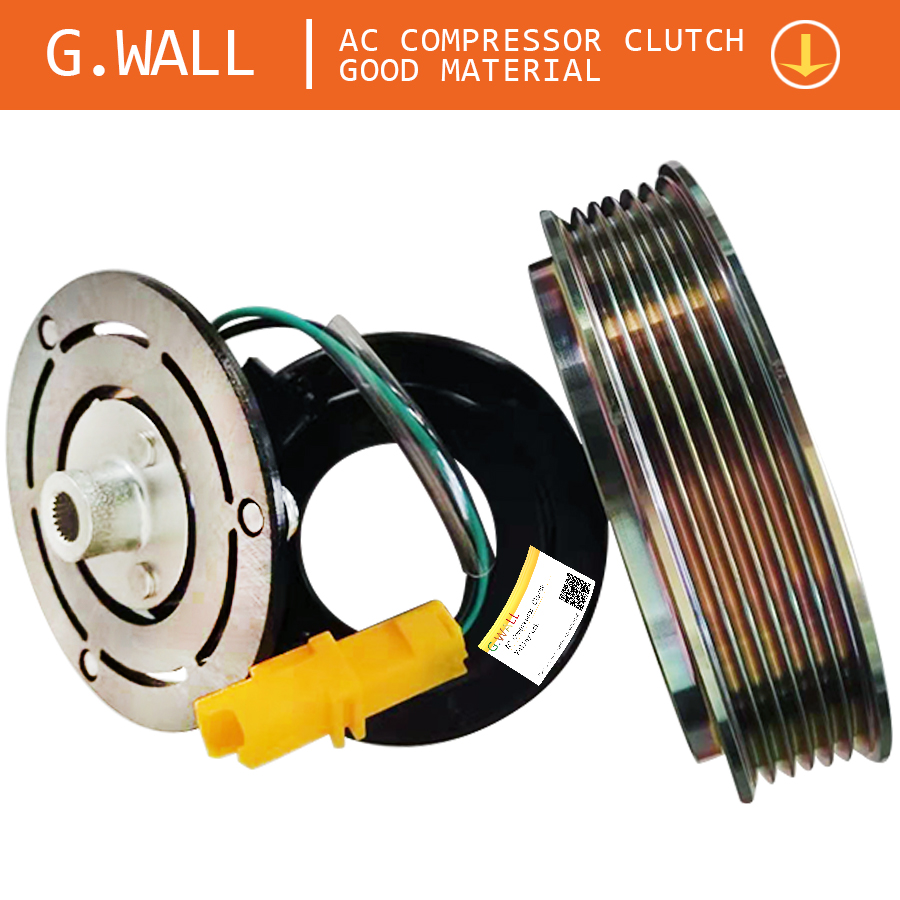 Air Conditioner Clutch AC Clutch For Peugeot 206 307 Air Conditioning Compressor Clutch Include : Pulley And Hub And Coil