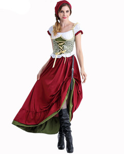 Image 2 - Octoberfest בוואריה שמלה כפרית חדרניות איכרים חצאית שמלת גרמנית בחורה תלבושות המפלגה נקבה אוקטוברפסט ארוך שמלה