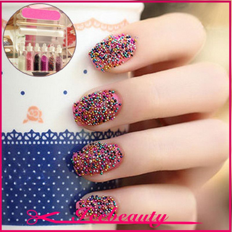 Nail Art Sticker 9 In 1 Hot Beauty Free Adhesive Polish Tips Decorations Accessories Beads File 40g Stickers Decals From Health
