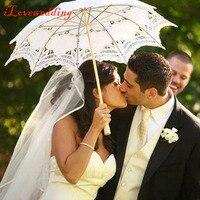 Moda Sposa Ombrelli Ombrello Pizzo Bianco Ombrello Parasole di Cerimonia Nuziale Decorazioni Cotone Victorian Lady Accessorio del Costume
