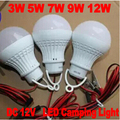 3pc/lot Portable Camping Hiking Tent Garden Lamp 3W5W7W DC12V 5730SMD Super Bright LED Light Lamp Bulb Cold white/warm white