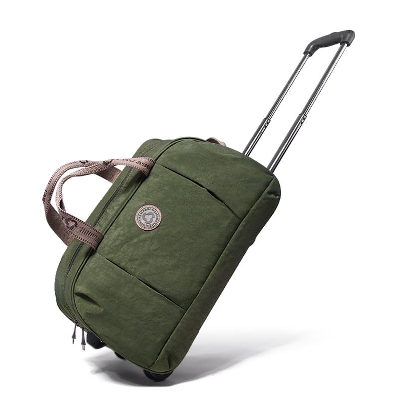 Trolley bag female canvas travel bag portable bag male luggage,student trolley luggage bag
