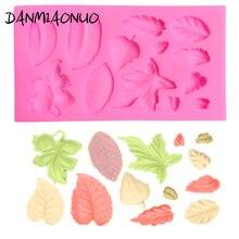 Beautiful Leaf Shape Silicone Mold Cake Soap DIY Kitchen Maple leaf Chocolate Fondant Decorating Tool 3D