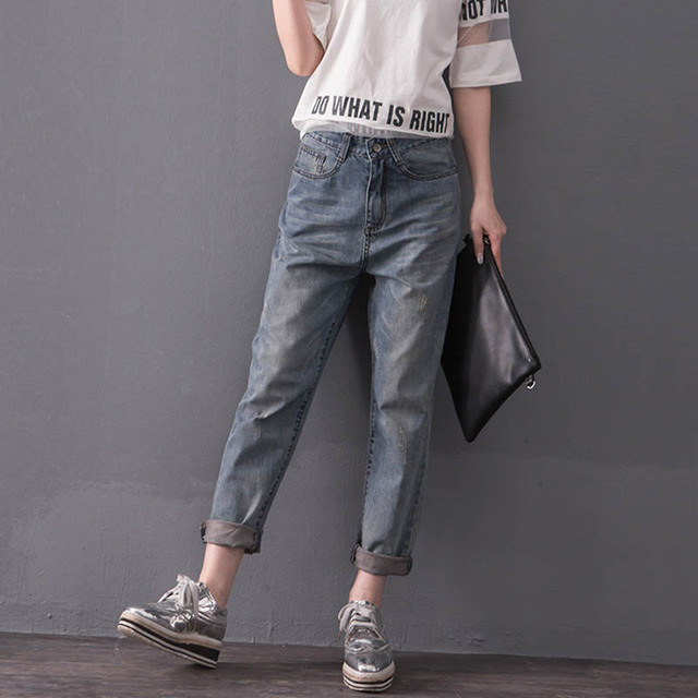 Loose Jeans Women Casual High Waist Denim Jeans Trousers Plus Size 3XL 4XL 5XL MYNZ23