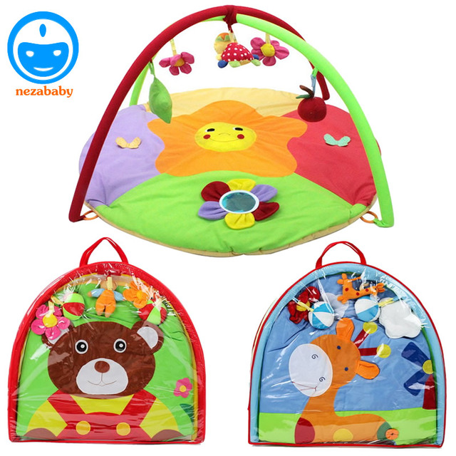 90cm Cartoon Animal Soft Baby Play Mat Infant Kids Play Carpet Baby Educational Plush Toys Mat Children Rugs and Carpet PX16