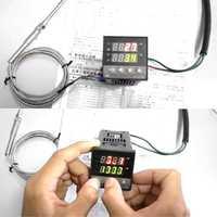 Régulateur de température numérique PID REX-C100 0 à 400 degrés K Type entrée contrôleur de température de sortie SSR outil qiang